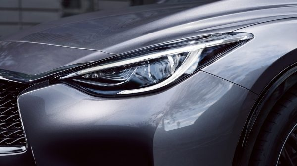 Hatchback car led lighting close-up