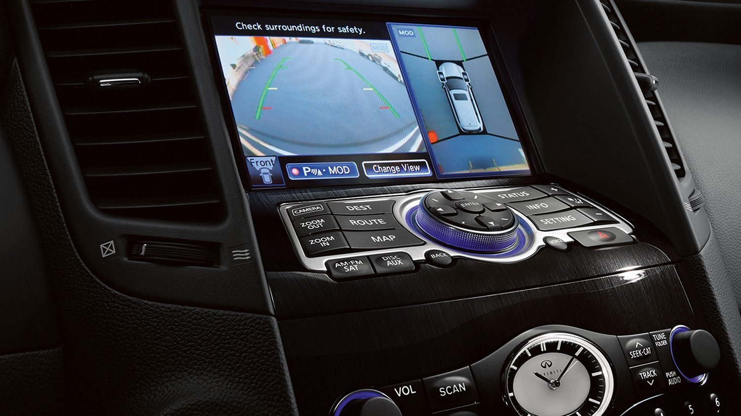 front console