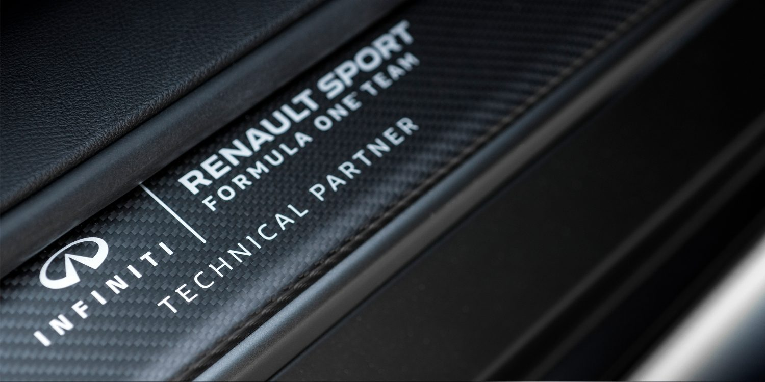 INFINITI Project Black S collaboration between INFINITI & Renault Sport F1™ Team