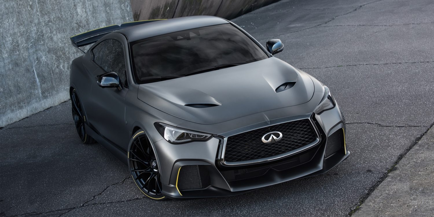 INFINITI Black S vehicle features a high-performance aesthetic inspired by F1™ technologies