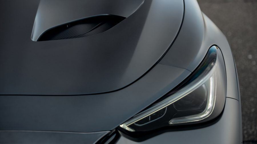 INFINITI Project S Black vehicle hood or bonnet from the front