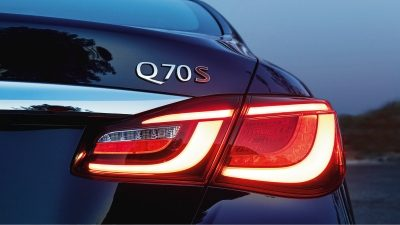 Rear LED lights on - Luxury Sedan