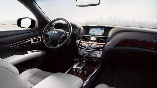 White leather seat - luxury car dashboard
