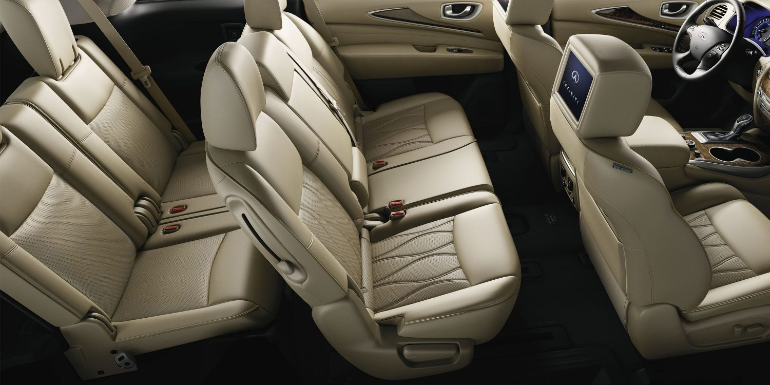 2018 INFINITI QX60 Crossover third row seating in Wheat leather