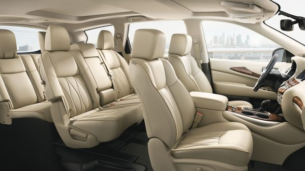2018 INFINITI QX60 Crossover third row seating in Wheat leather | Seating for Seven