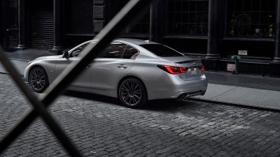 2020 INFINITI Q50 Sport Sedan Specifications Side Rear Profile