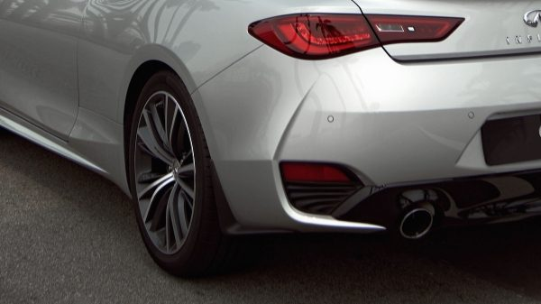 2020 INFINITI Q60 Red Sport 400 Sports Coupe Design Unique Exhaust Tip Design