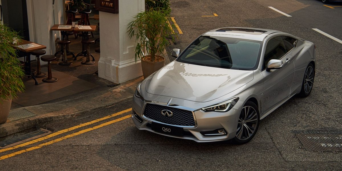 2020 INFINITI Q60 Red Sport 400 Sports CoupeDirect Adaptive Steering