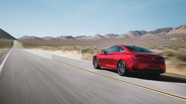 2018 INFINITI Q60 Red Sport 400 Sports Coupe Safety | Lane Departure Prevention (LDP) with Active Lane Control