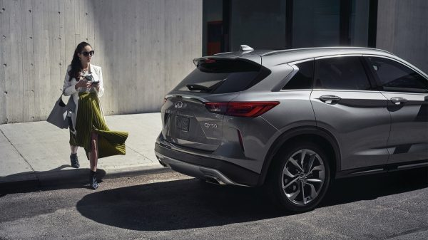 2020 INFINITI QX50 Luxury Crossover Parked To The Side