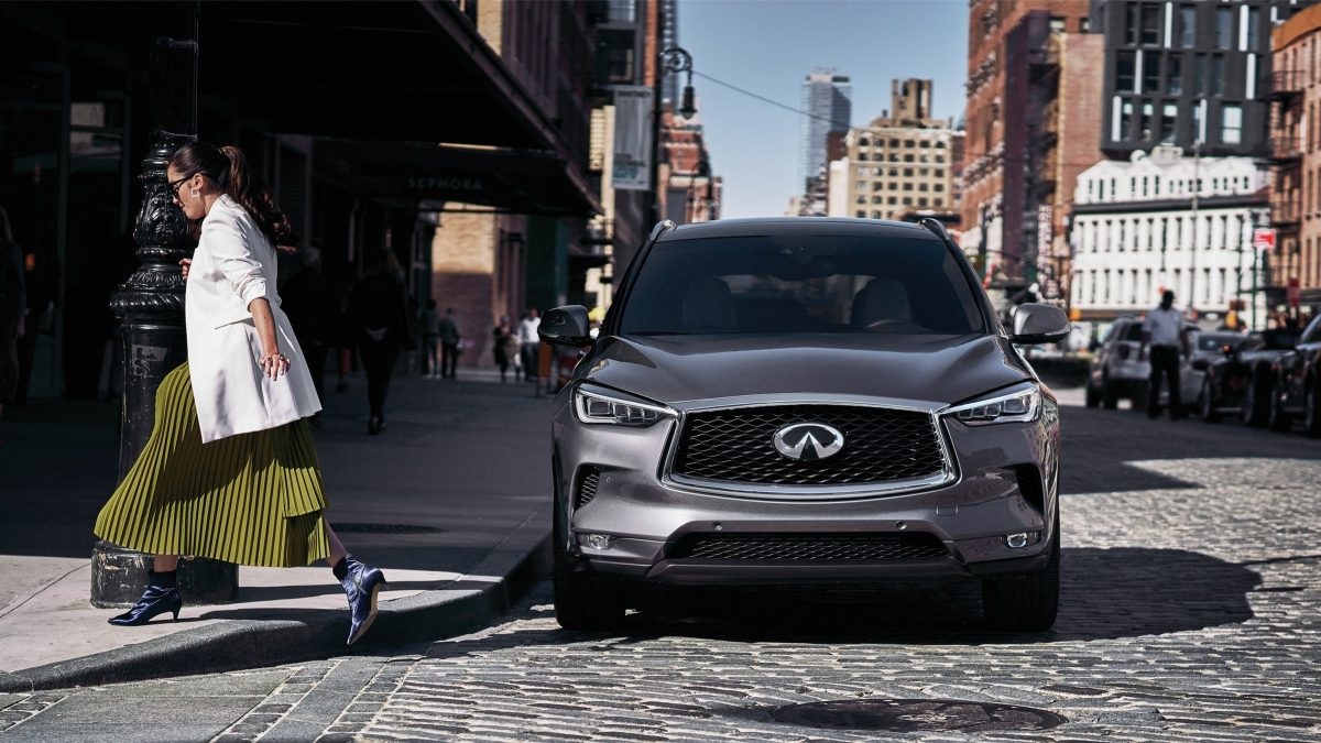 2020 INFINITI QX50 Luxury Crossover Front Profile and Exterior Details