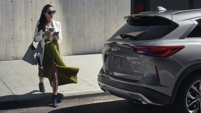 2020 INFINITI QX50 Luxury Crossover Rear Exterior Parked To The Side
