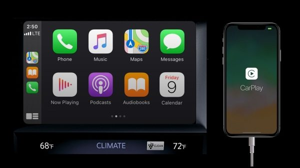 Apple carplay display in the 2021 INFINITI QX50 crossover