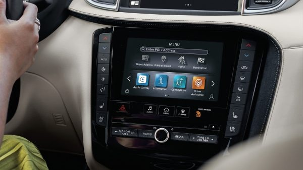 INFINITI INTOUCH available in the 2021 INFINITI QX50 dashboard.