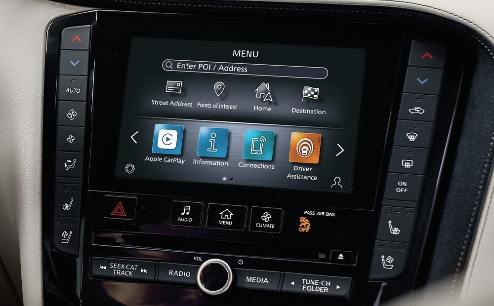 Lower touchscreen in the 2021 INFINITI QX50 crossover
