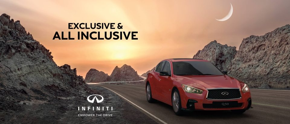 Free insurance and registration with new Q50