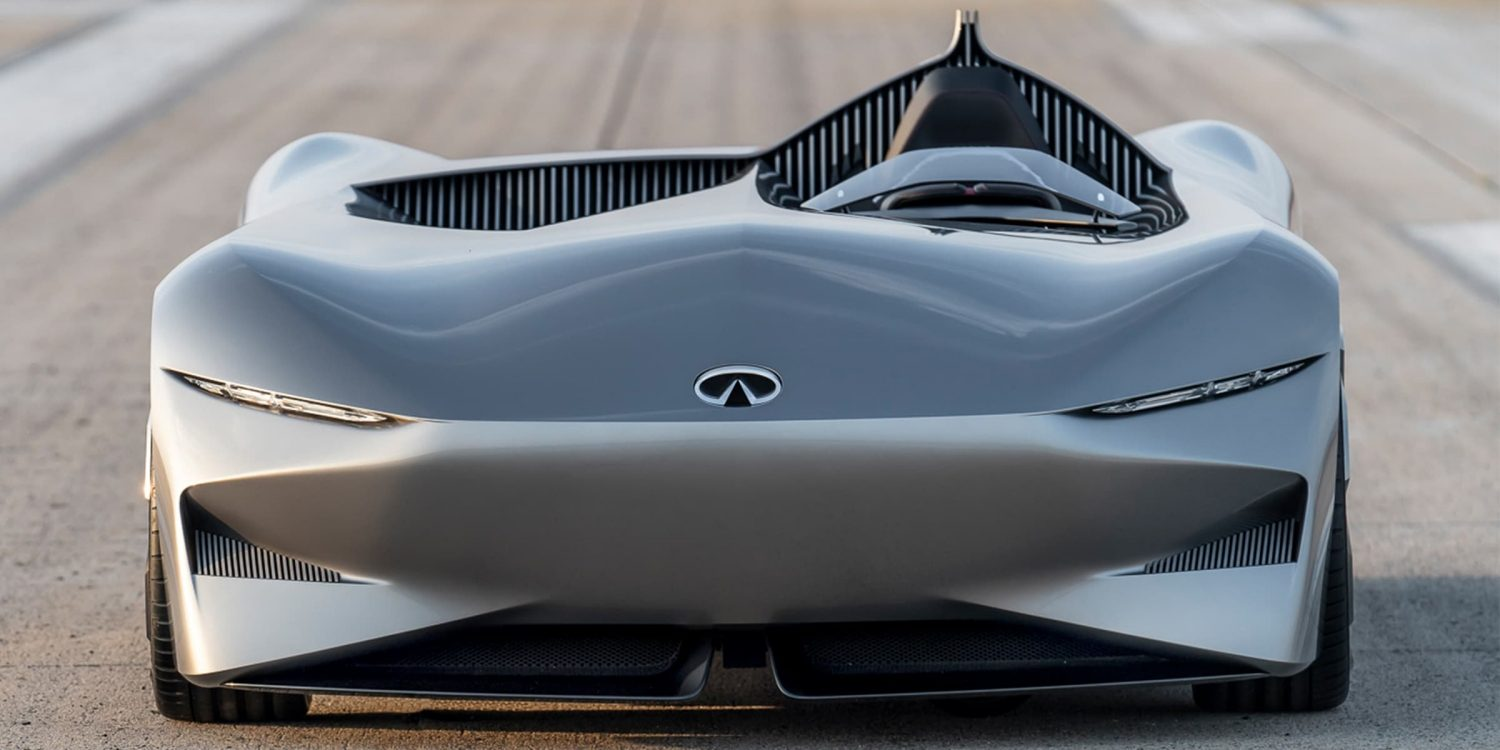Infiniti prototype 10 concept car front view zoom in