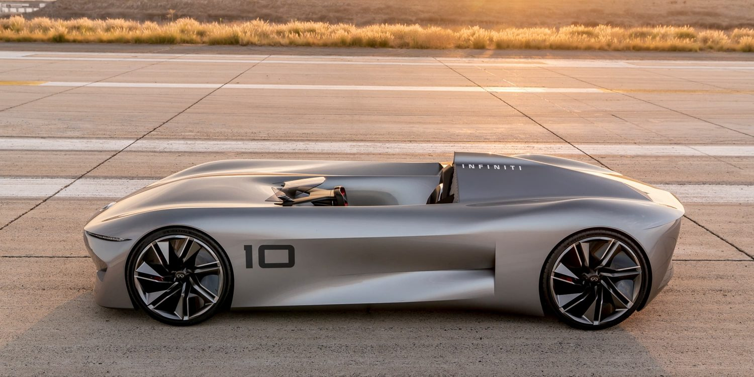 Infiniti Prototype 10 Concept Car Full Body Shot In Sunlight