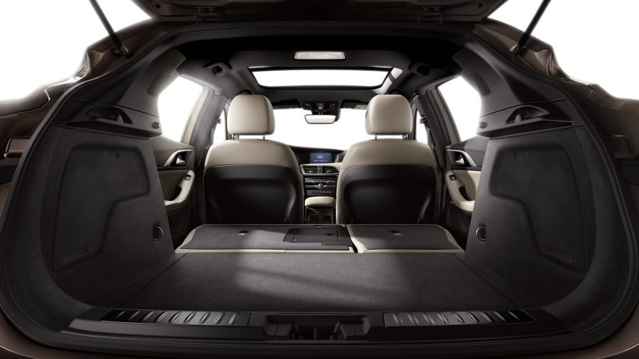 2018 INFINITI Q30 Crossover Fold-Down Rear Cargo Space