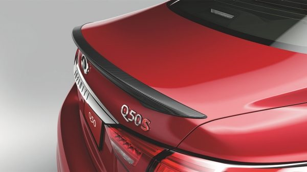 Carbon-fibre rear deck lid spoiler