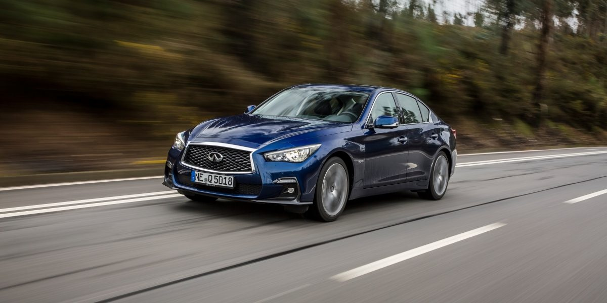 2019 INFINITI Q50 Design Gallery | Front 3/4 Fascia and Signature Profile