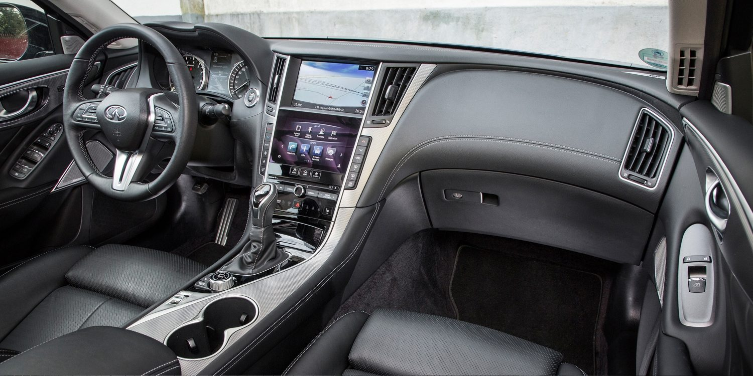 2019 INFINITI Q50 Design Gallery | Graphite Soft Leather, Quilted Seat Upholstery