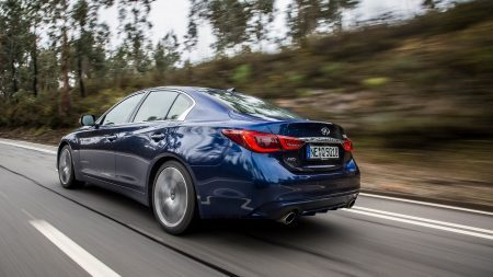 Rear 3/4 of the 2019 INFINITI Q50