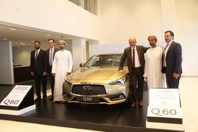 New INFINITI Q60 sports coupe  makes impressive debut in Oman