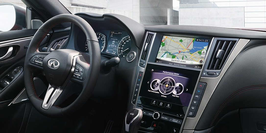 2018 INFINITI Q50 Red Sport Connectivity | INFINITI InTouch