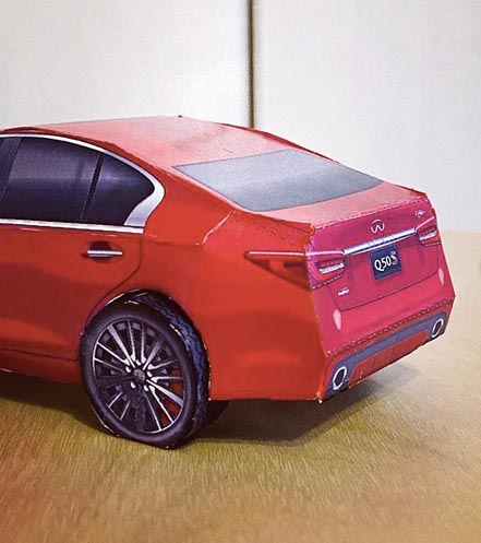 2020 INFINITI Carigami Instagram User Assembled Q50 Rear