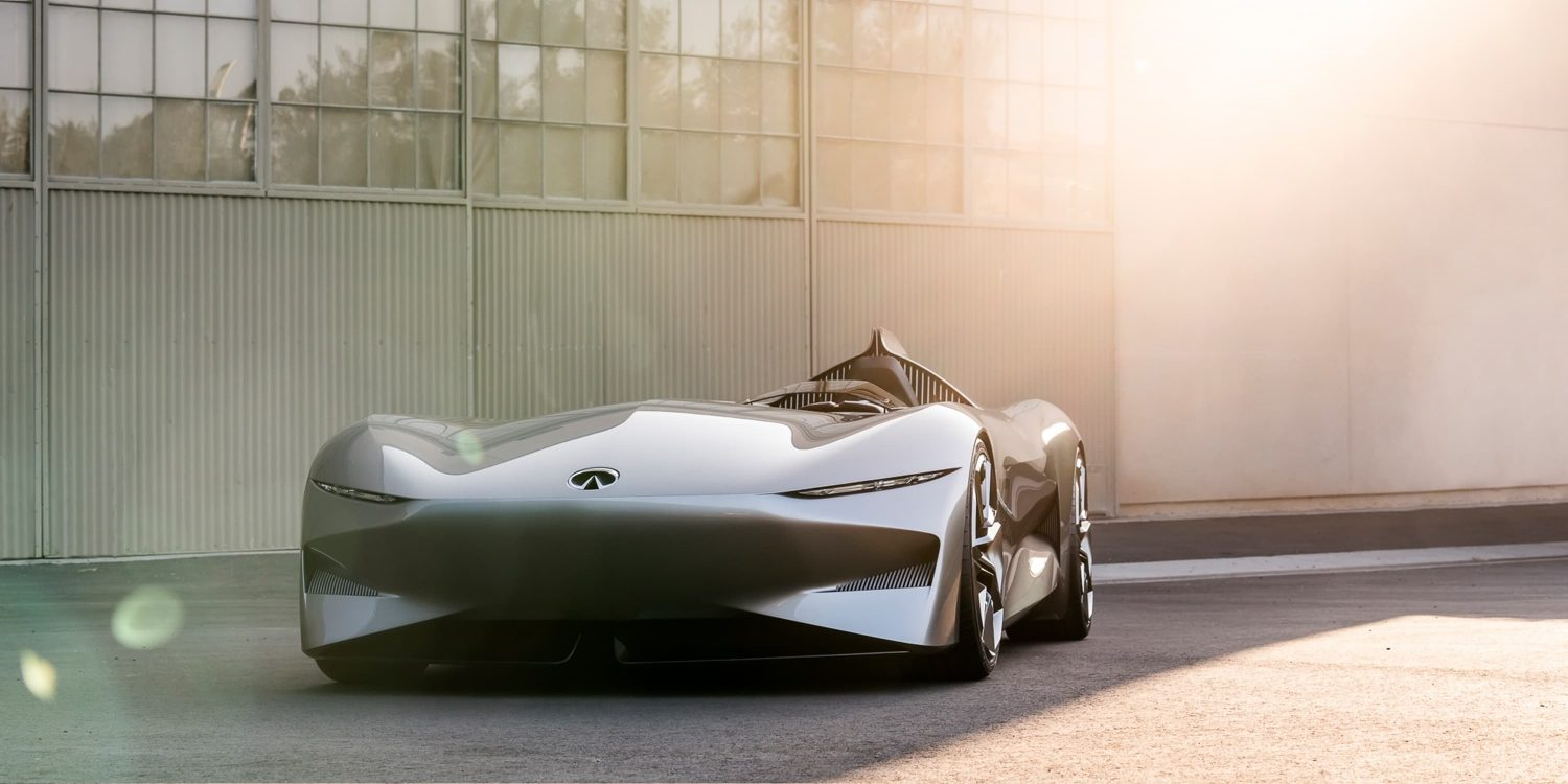 Infiniti Prototype 10 Concept Car Front View Shot In Sunlight