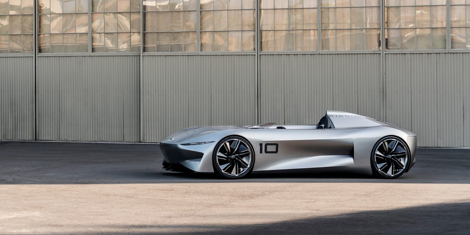 Infiniti Prototype 10 Concept Car Side View Hero Shot In Open Space