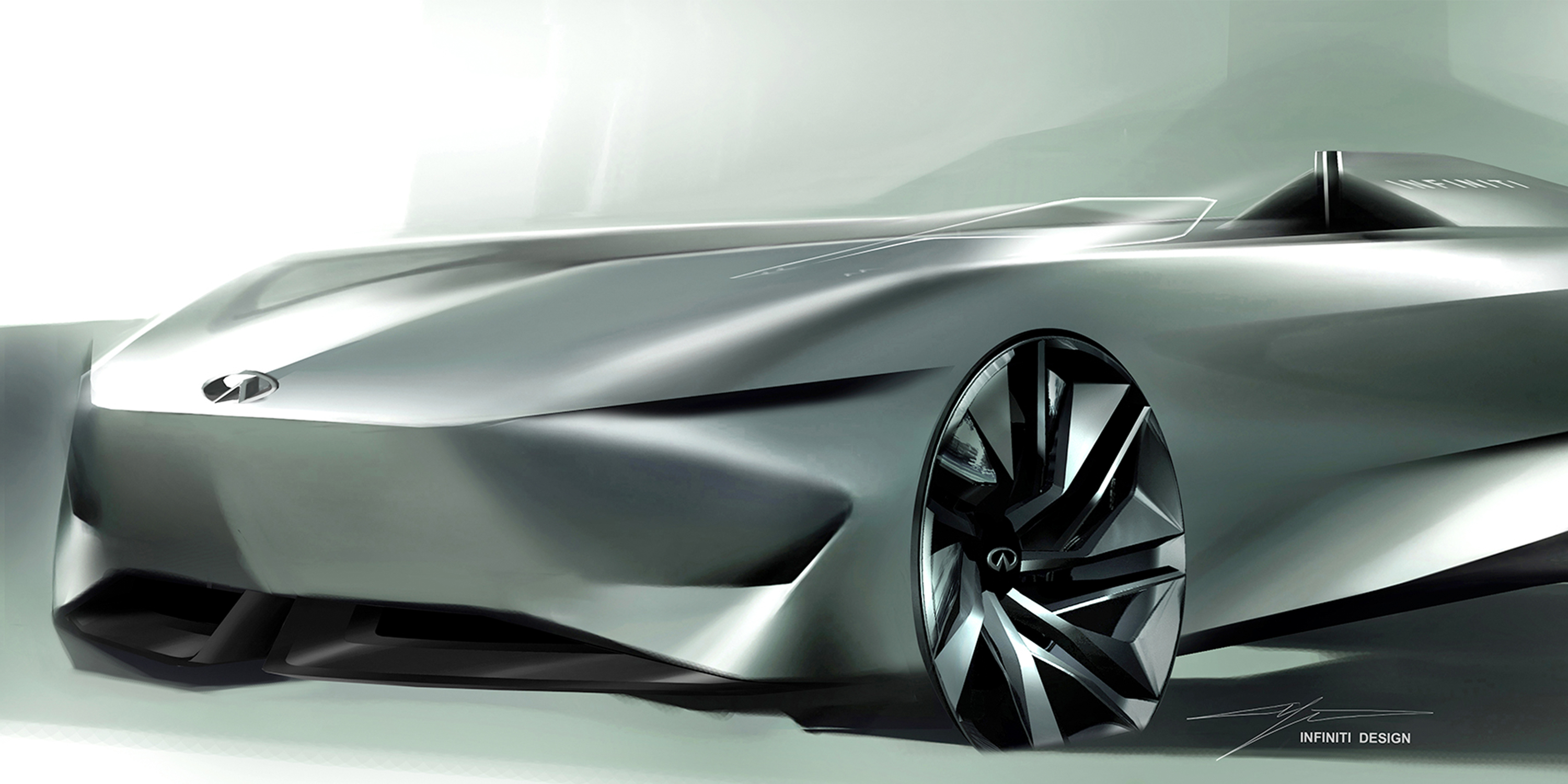 Infiniti Prototype 10 Concept Car Head Part Design