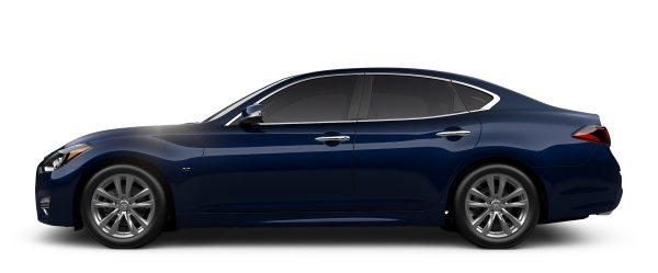 Side profile of the INFINITI Q70