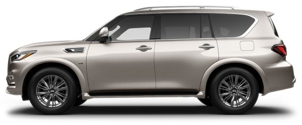 Side profile of the 2021 INFINITI QX80 SUV