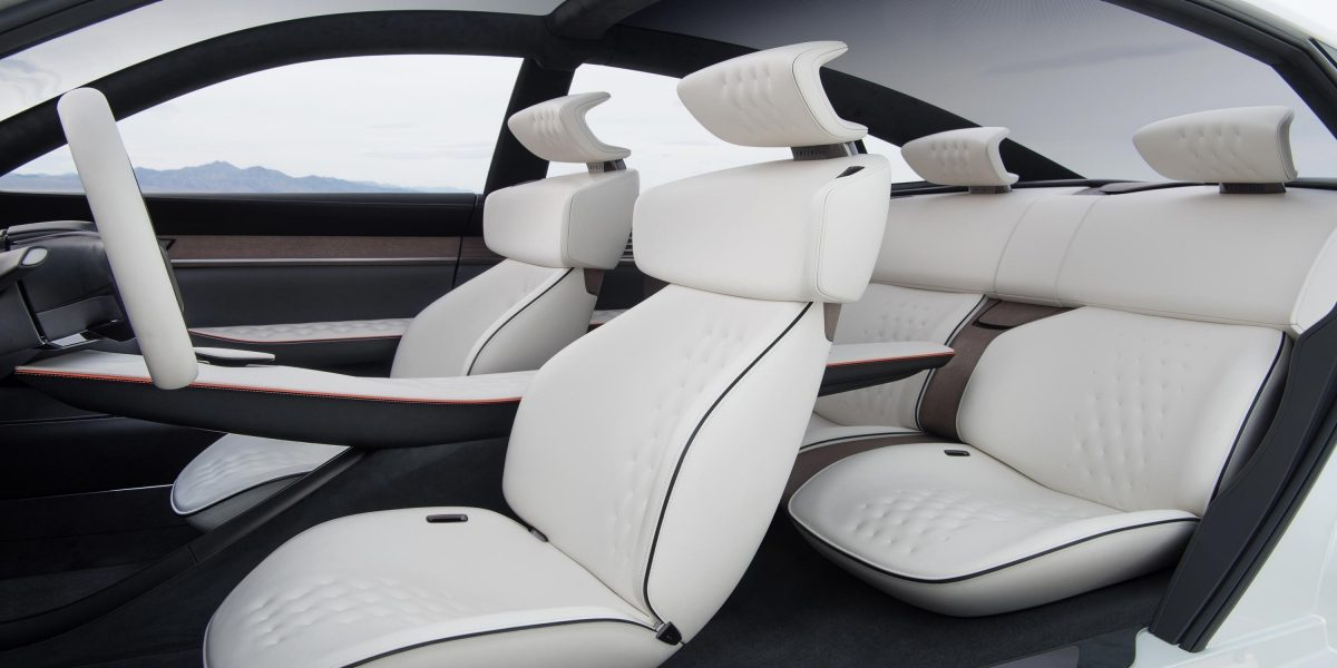 INFINITI Q Inspiration Sedan White Leather Interior Seating
