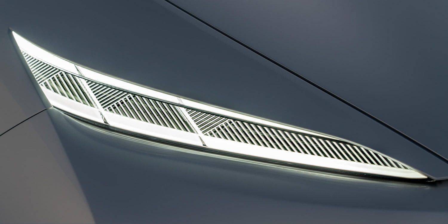 Infiniti QX Inspiration close up front headlight