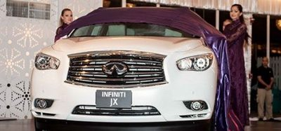 All-new Infiniti JX introduced on Dubai roads
