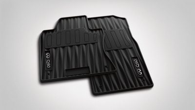 ALL SEASON FLOOR MATS (4-PC SET) – BLACK WITH GREY LOGO