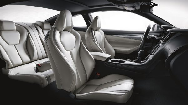 Sport leather seats interior wide shot