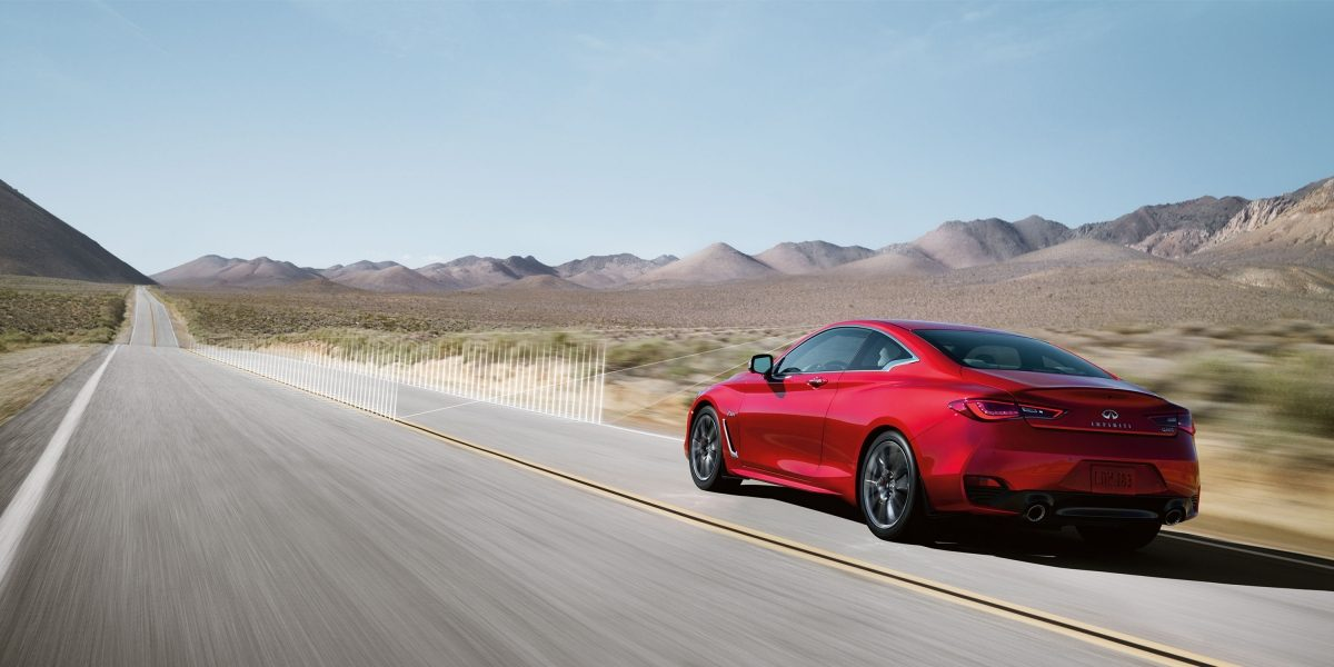 2018 INFINITI Q60 Red Sport 400 Performance Sports Coupe | Active Lane Control Driver Aids