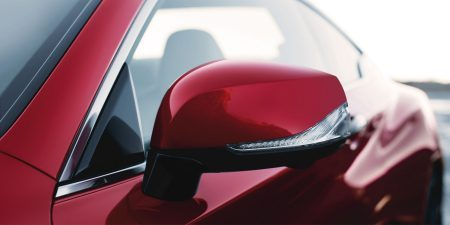 2018 Q60 coupe side mirror closeup