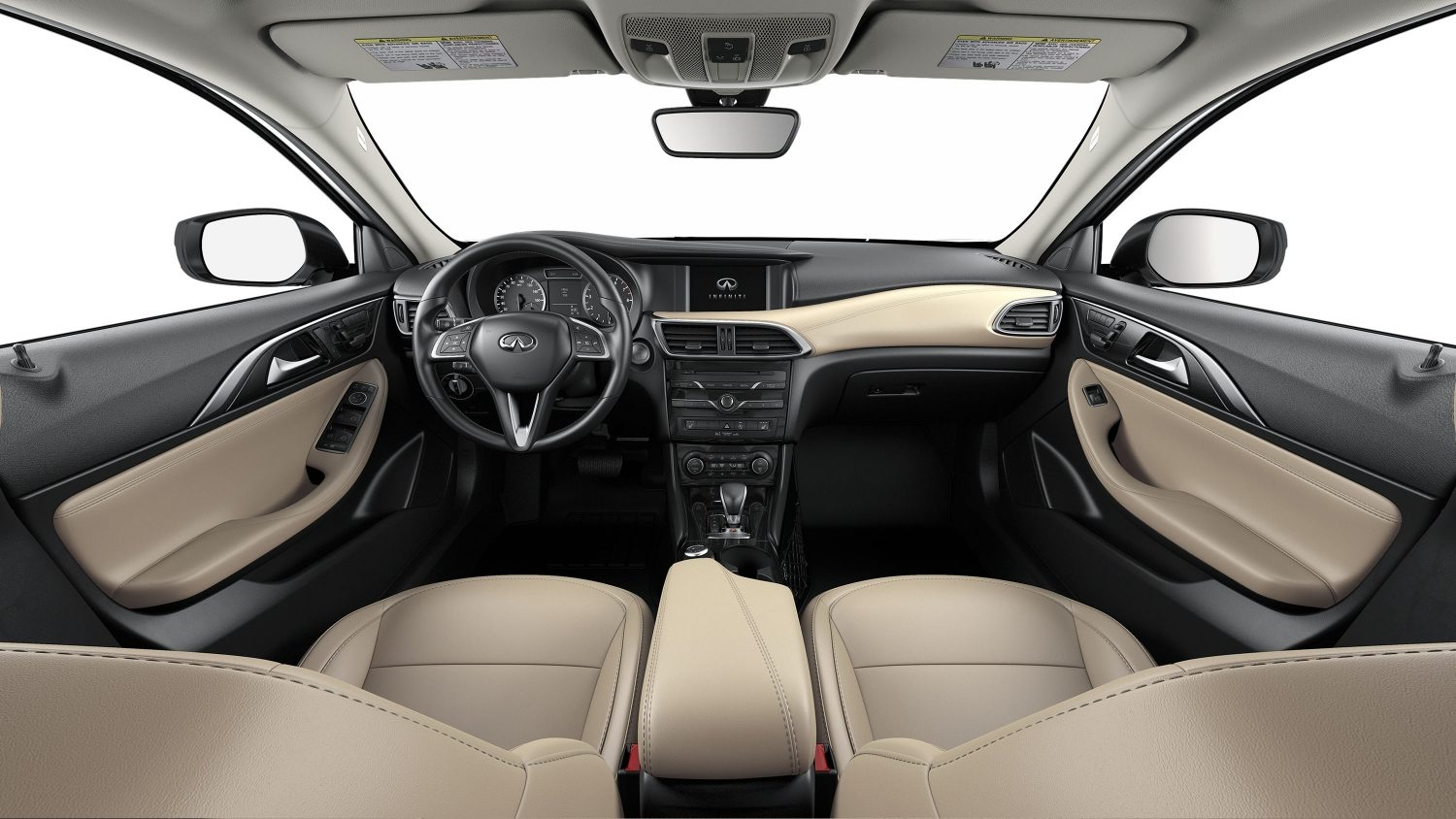 Luxury hatchback car beige interior