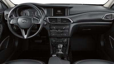 Hatchback black leather interior & steering