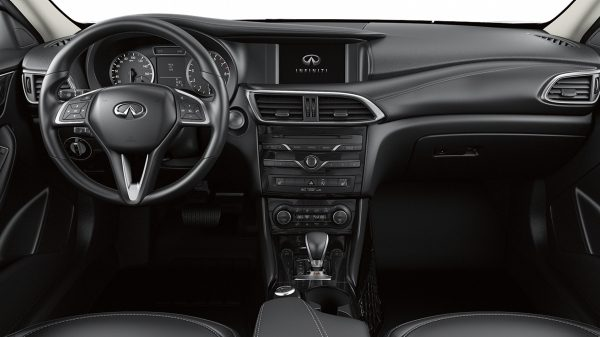 Hatchback interior - steering and driver dashboard