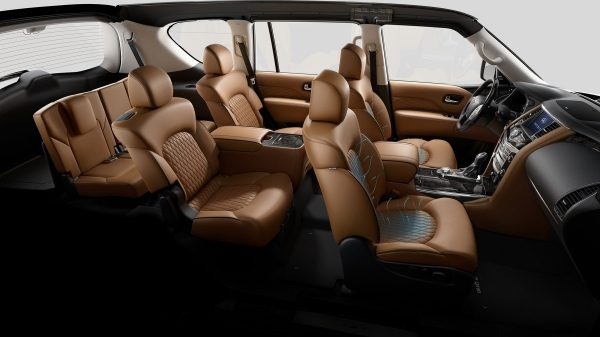 QX80 SUV Interior - All Seats side shot
